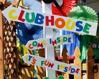 Mickey Mouse Clubhouse Sign Letters - LETTERS ONLY, As Seen On Catch My Party