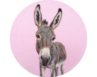 Donkey Portrait - Giclee Print 8 x 10 - HAM Portrait Collection