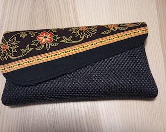 Kikoy Clutch Purse, African purse, Tribal clutch, Handmade African Accessories, Ethnic, African Fabric Clutch, African Print zipper clutch