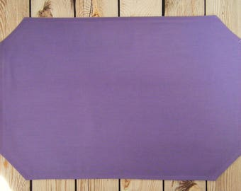 12 x 18 ASTER placemat, wedding table linens, purple dining room decor, ready to ship