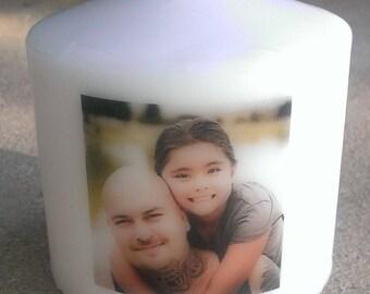 "3"" Custom Photo Candle"