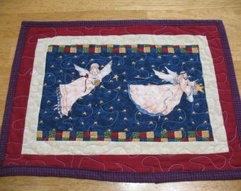Quilted Christmas Angels Personal Placemat or Table Topper