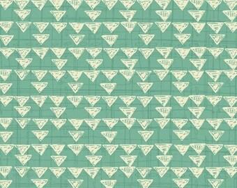 Quilting Treasures - Bloom by Amylee Weeks - Dk. Seafoam Geometric
