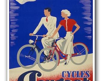 Vintage Bike Print Bicycle Art Biking Sports Poster (H378)