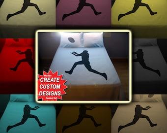 Sport Football Bedding Duvet Cover Queen King Twin Size, Queen Bedding, King Bedding Twin, Kids Queen Duvet Cover, Linen Cotton Sheet Set