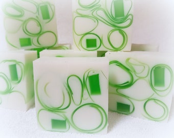 Beautiful soft and silky Ginger & Green tea Goats Milk Glycerine soap