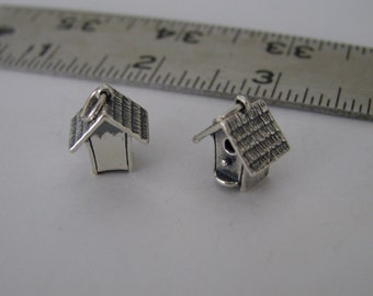 Birdhouse with Perch Sterling Silver Charm