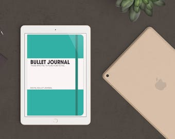 Teal Digital Bullet Journal for Goodnotes - iPad & iPhone