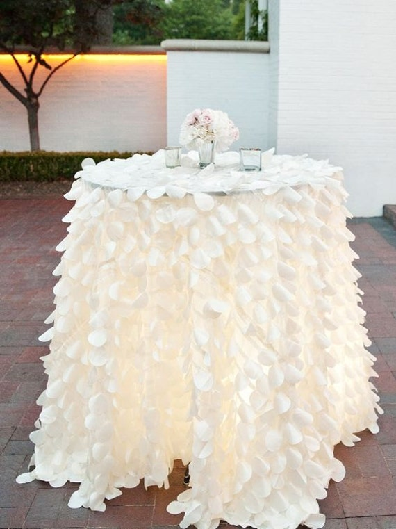 Ivory Ruffle Tablecloth Or Runner For Dessert Table Cake Table