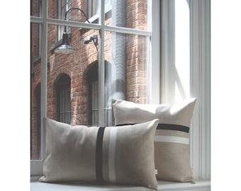 Black and White Striped Pillow Set | (12x20) and (16x16) by JillianReneDecor | Urban Home Decor | Minimal | Classic Black and White Stripes