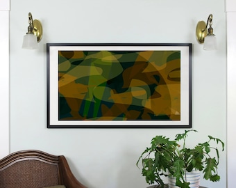 "Abstract Composition: Aspen_02_01d - Contemporary Art - Abstract Design - 46"" x 26"" and 19"" x 13"" - Limited Edition Print"
