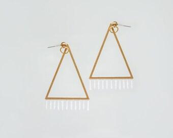 Triangle Earrings Earrings Triangle Jewelry Modern Earrings Geometrical Earrings Modern Jewelry Geometrical Jewelry/ VITA