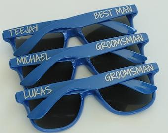 Personalized Sunglasses, Custom Wedding Favor, Bachelor Gifts, Bachelorette Party Favors, Destination Wedding, Groomsmen Sunglasses
