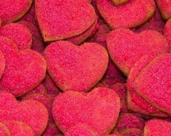 Heart Shaped Valentines Day Cookies