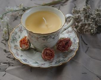 Beeswax Tea Cup Candle