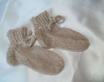 Items Similar To Handknitted Baby Socks Little Princess On Etsy