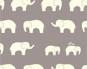 Organic Boppy Cover | Gray and White Elephants
