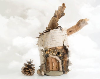 Fairy House made of Birch Bark, Driftwood, Pine Cones and the usual Magic - Full Circle