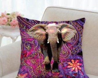 Elephant Pillow, Elephant decor, elephant cushion, elephant gifts