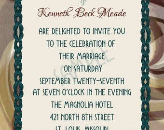 Steampunk in Teal Wedding invitation suite