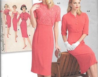 Simplicity 8460 Replica 1950's Vintage Dress and Jacket Pattern (6-14)