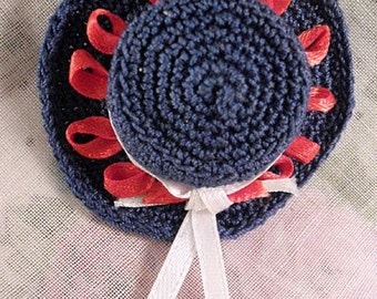 Pin - Miniature Hat Red White and Blue OOAK