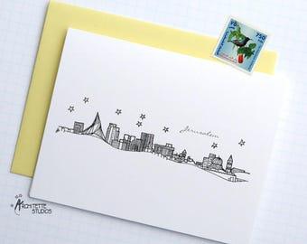 Jerusalem, Israel - Asia/Pacific - Instant Download Printable Art - City Skyline Series