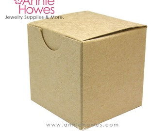 50 Small Favor Boxes for Weddings and Parties. Kraft Boxes. 2 x 2 x 2 inches. Annie Howes. 50 pack.