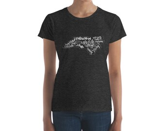 NC Meredith College - Hand Lettered Women's Tee