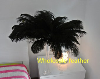 100 pcs 14-16inch Black ostrich feather plumes for wedding centerpieces wedding decor party event decor costumes