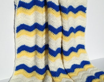 Blue Skies and Sunshine Ripple Baby Blanket
