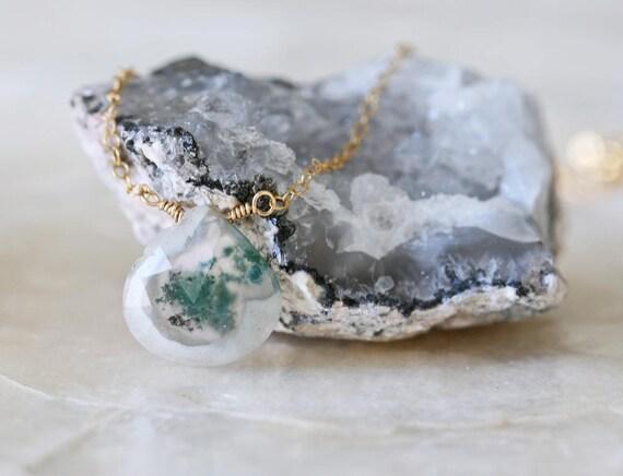 Solar Quartz Necklace, White Quartz Necklace, Green Quartz Necklace, Beauty Gift, Gold Quartz Necklace, Silver Quartz Necklace, Gift for Her