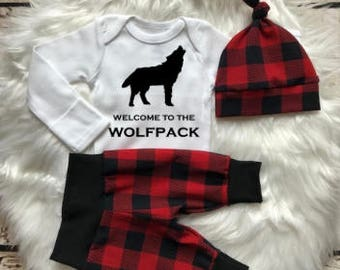 BABY BOY/Baby Boy Coming Home Outfit/Baby Boy Clothes/Baby Shower Gift/Baby Gift/Baby Hat/Woodland/New Mom Gift/Newborn Boy/Newborn Romper
