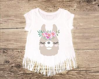Llama Shirt with Fringe