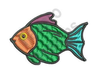Colorful Fish - Machine Embroidery Design