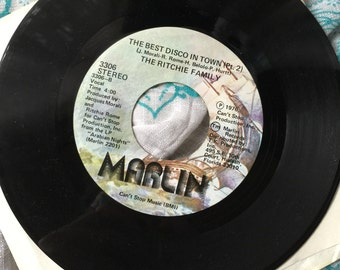 """Vintage 1976 The Ritchie Family 45 """"The Best Disco In Town"""" part 1 & 2"""