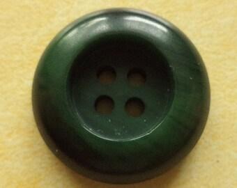10 buttons dark green 23mm (494) button Green
