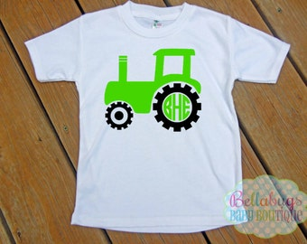Tractor Monogram Bodysuit or Tshirt - Personalized shirt
