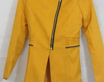 Electric yellow 80's women's jacket