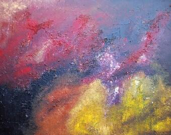 Original Abstract Painting Modern Acrylic Art  on Canvas 48 x 36