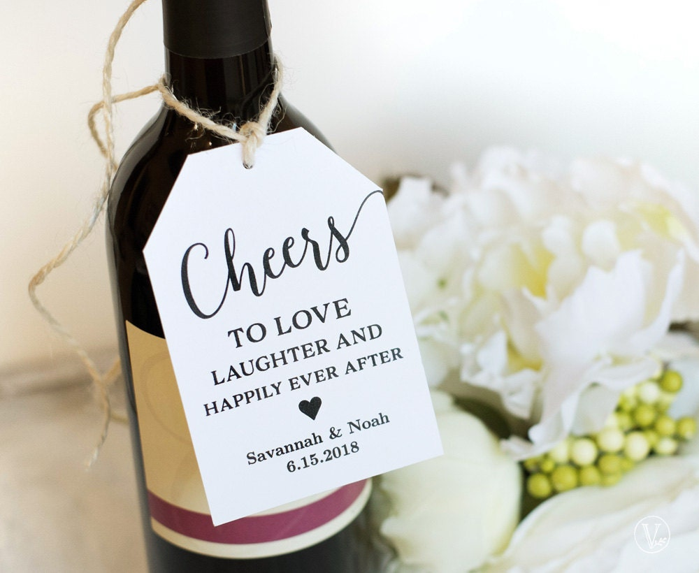 Wine Tags Printable Wedding Favor Tags Template Cheers Favor