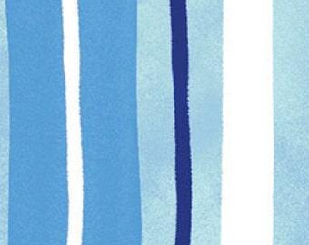 Rhapsody Blue Stripe fabric by Clothworks