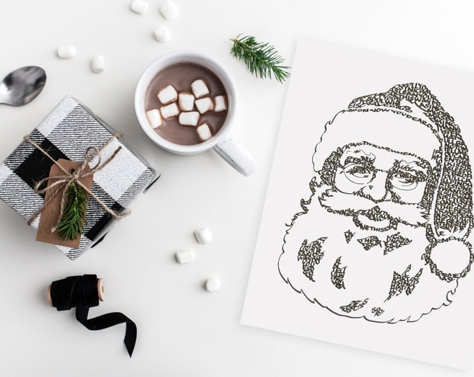 "Jolly Old St. Nick - A Limited Edition Print of a Hand Lettered Image Using the Carol  ""Jolly Old St. Nicholas"""