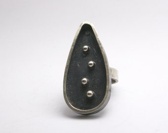 Sterling Silver Ring - Statement - Funky