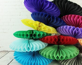 10pcs/lot Tissue Paper Fans - Rosettes - Pinwheels - Wedding Party Decorations -  Pinwheels Flower for Wedding Party baby Shower Decoration