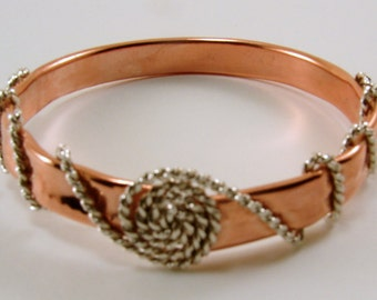 Copper Tubing and Sterling Silver Bangle  Bracelet (As seen at GBK's 2014 Golden Globes Gift Lounge)