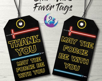 Star Wars Favor Tags, Star Wars Tags, Star Wars Party Decoration, Star Wars Favors, Star Wars Birthday Star Wars  Party Printable Tags
