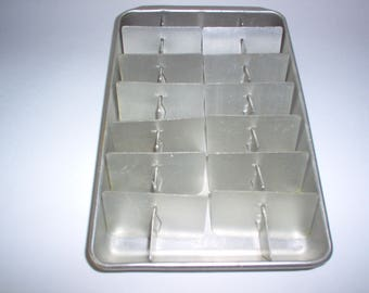 Vintage Metal Double Ice Cube Tray