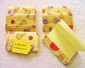 """6 - 4""""x4.5"""" - Matchbook Notepads -  Thanksgiving - Bountiful Harvest - 15 sheets-   extra large 4 x 4.5 inch size-"""
