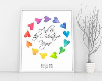 LGBT Wedding, Gay Marriage Gift, Gay Prints, Lesbian Pride, Lesbian Engagement Gift, LGBT Poster, Lesbian Girlfriend Gift her, Mrs and Mrs